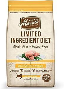 Merrick Grain Free Limited Ingredient Diet Chicken Recipe Cat Dry Food, 7 lbs.