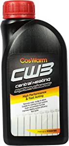 CosWarm CW3 Central Heating System Cleaner – Boiler, Radiator & Pipe, Hydronic Heating System Cleaning & Descaling Solution – Cleans & Removes Rust, Debris, Scale, Sludge Buildup – Treats Up To 18 Single Radiators