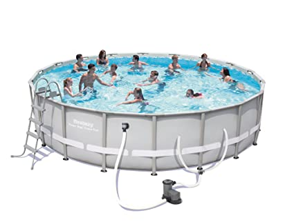 f7a1ffc9ada Image Unavailable. Image not available for. Color  Bestway Steel Pro 18  x  48 quot  Frame Pool Set ...