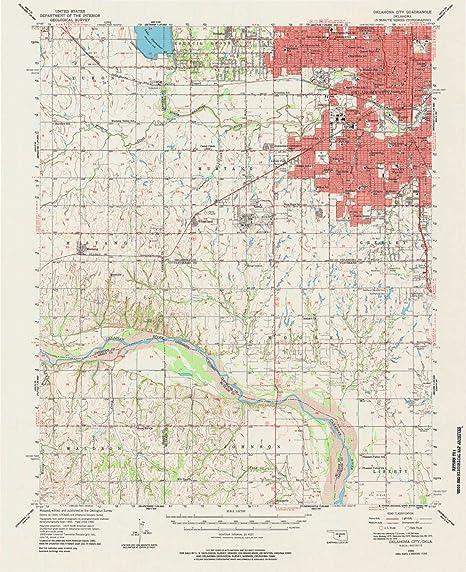 Amazon.com: YellowMaps Oklahoma City OK topo map, 1:62500 ...