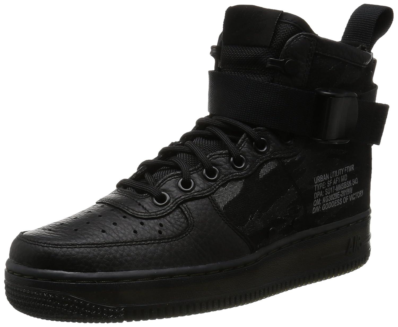 Nike Herren SF Air Force 1 Mid Schwarz Leder Synthetik Turnschuhe B072MGCM1R | Gewinnen Sie das Lob der Kunden