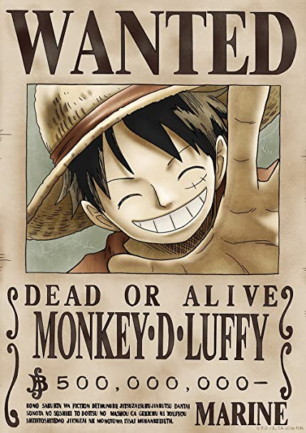 Tokiwa Corporation Anime One Piece Official Licensed Wanted Poster New World