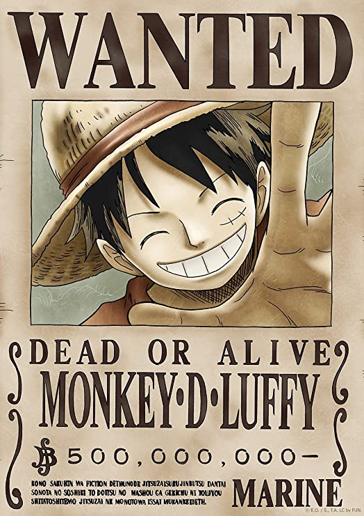 Amazon Com Tokiwa Corporation Anime One Piece Official Licensed Wanted Poster New World Posters Prints