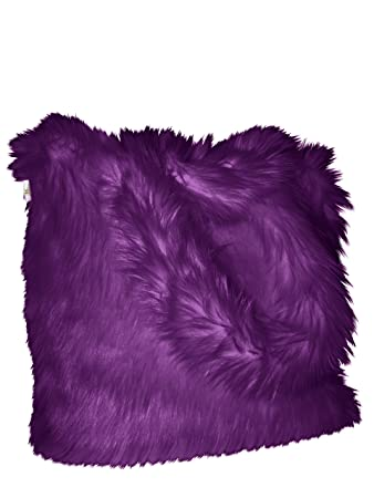 f2294f77779 Amazon.com   CHC-Beverly Hills Luxurious Signature Fluffy Fur Weekender Bag  Purple Large Overnight Duffel One Size   Travel Duffels
