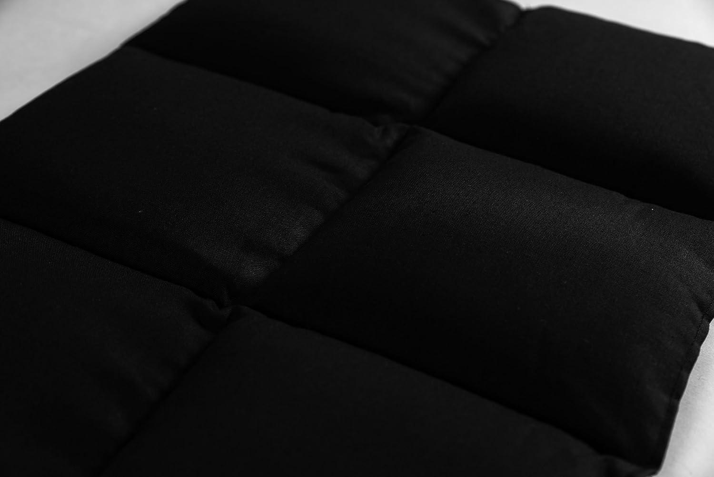 6 compartiments Coussin thermique Coussin /à graines Coussin aux noyaux de cerises Taille 40x30 Noir