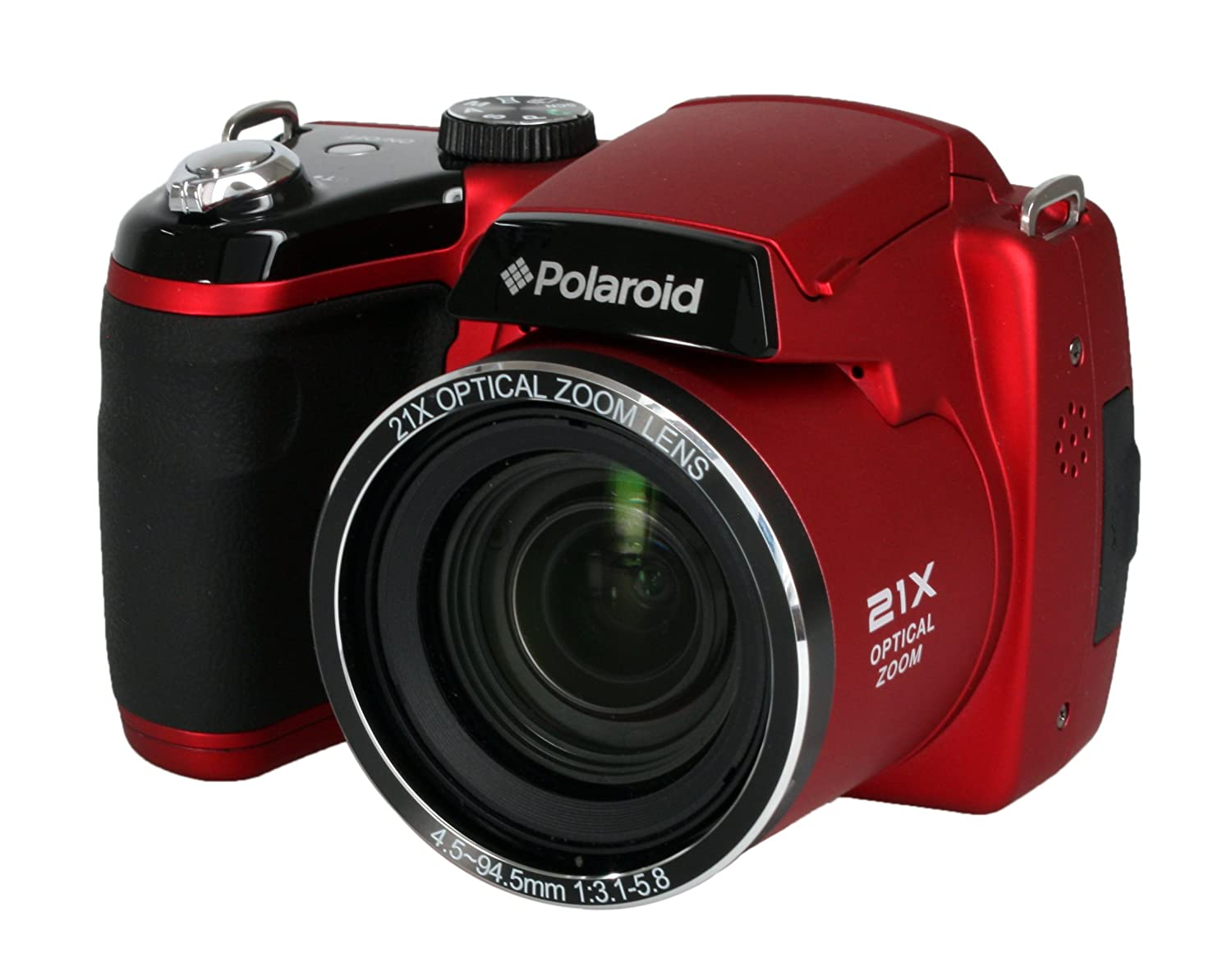 Amazon.com : Polaroid IS2132-RED 16MP 21X Zoom Digital Still ...