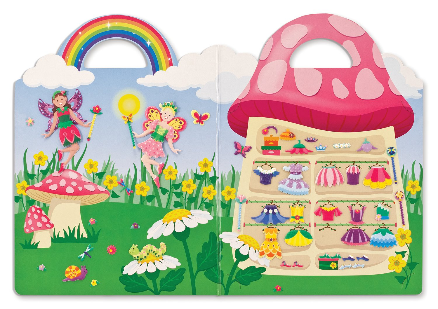 Fairy Reusable Activity Book,/75 Stickers, Great for Travel Melissa /& Doug Puffy Sticker Play Set