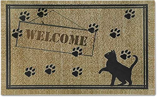 EasyAcc Outdoor Indoor Doormat for Entryway, 36 x 24 inches Entrance Welcome Door Mat Non Slip Washable Front Door Mats Rug with Rubber Backing