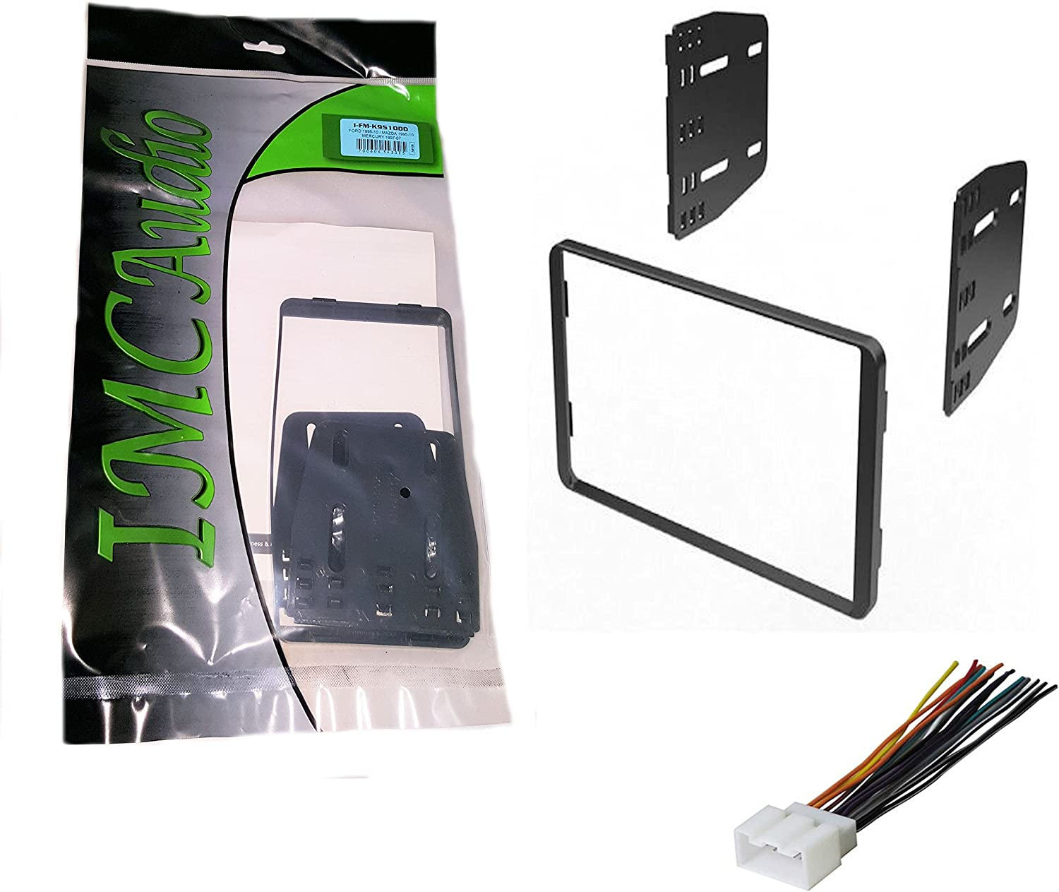 IMC Audio Double Din Dash Kit for Aftermarket Radio Installation for Ford Lincoln Mazda Mercury