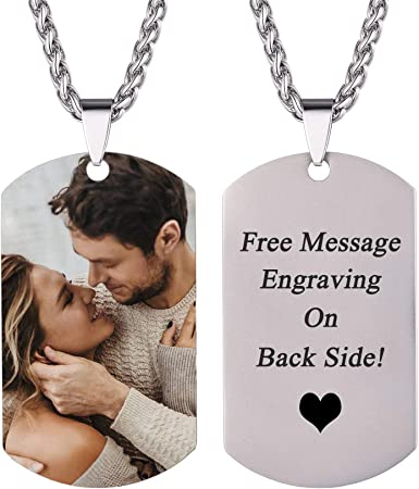 in silver Handstamped dogtag necklace personalise with your choice of namesmessage medium rose /& yellow gold finish stainless steel