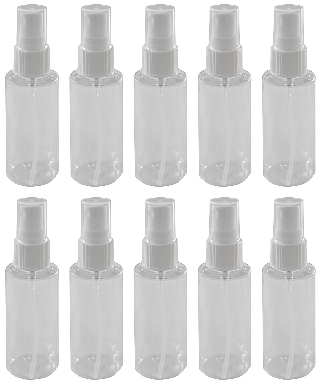 10-2 oz Clear PET Bottle with White Fine Mist Sprayer: Beauty