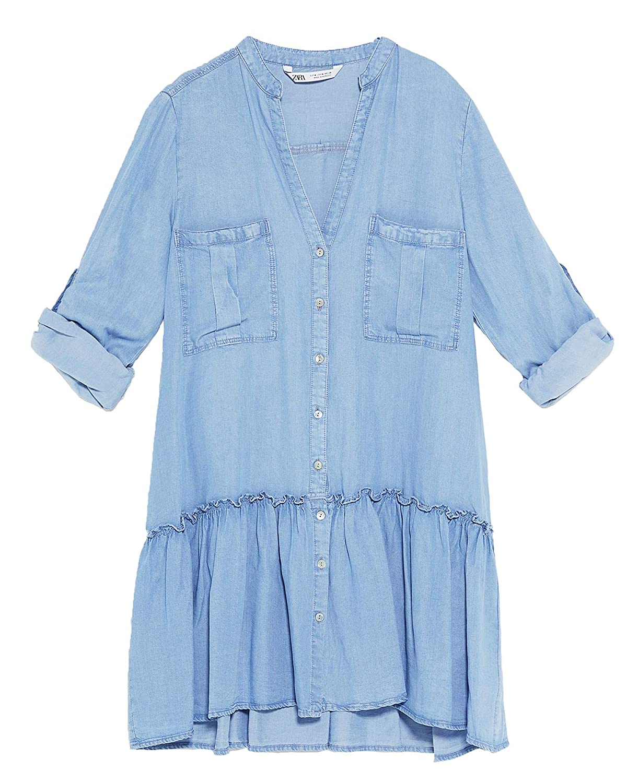 8c8a9b4c861 Zara Long Denim Shirt Dress - Gomes Weine AG