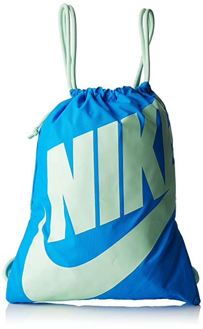 Nike Heritage Gym Sack (Photo Blue Fresh Mint Fresh Mint)  Amazon.in ... c5dfd2247ba5f