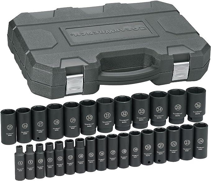 "1//2/"" Drive 13mm to 19mm 6 Point K Tool 38500 Impact Socket Set Flex 6 Piece"