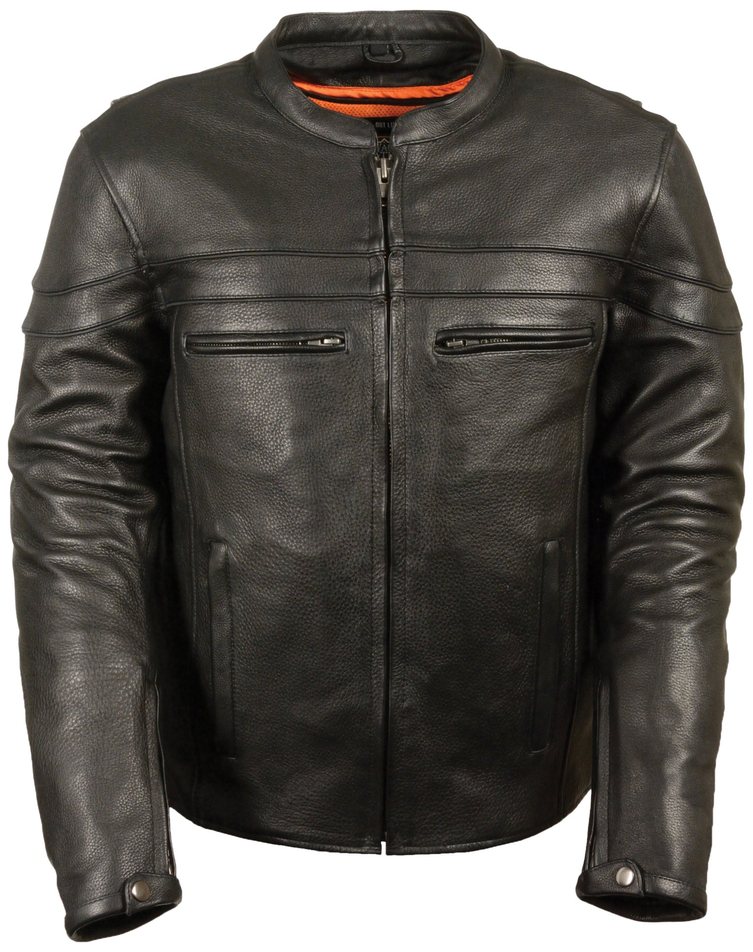 Milwaukee Men's Sporty Scooter Crossover Leather Jacket (Black, 4X-Large)