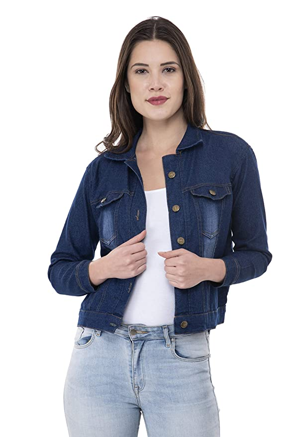 Montrez Women's Solid Denim Jacket Women's Jackets