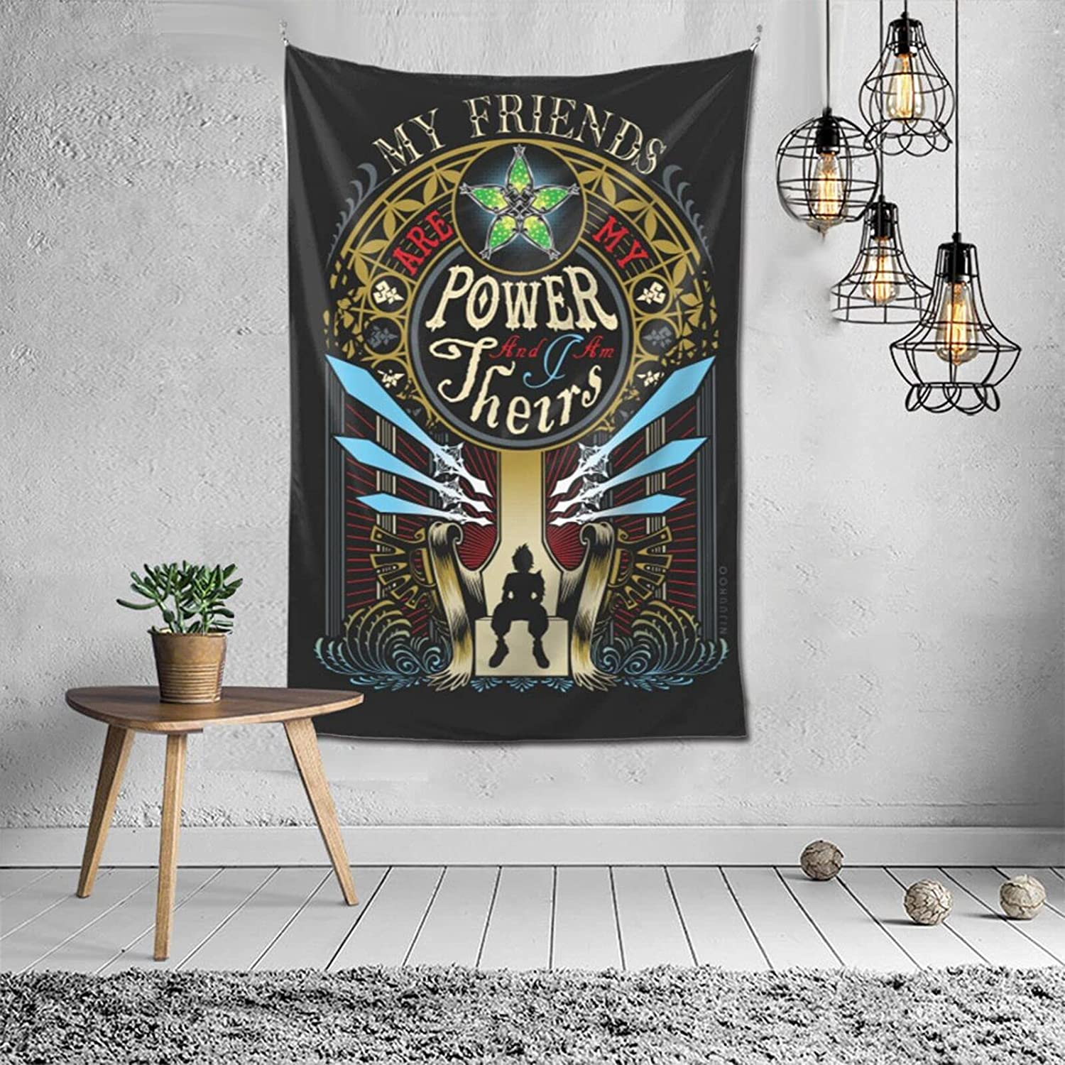 Vertical Tapestry Ven S Valor Ventus Kh Kingdom Hearts Wall Tapestry Anime Fans Home Dorm Wall Decor 60x40 Inch