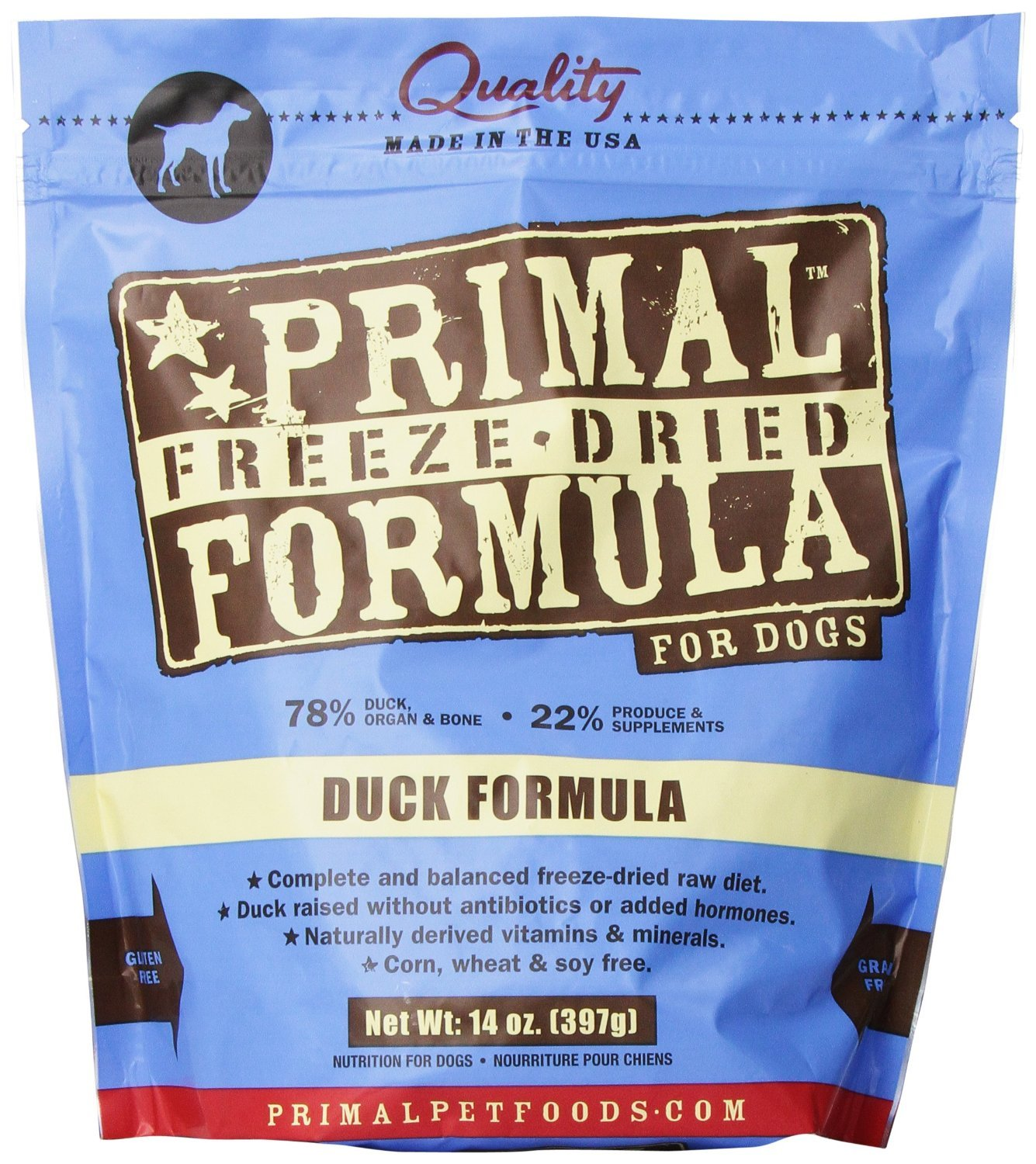 Pack of 2 Primal Pet Foods Freeze-Dried Canine Duck Formula (Pack of 2)