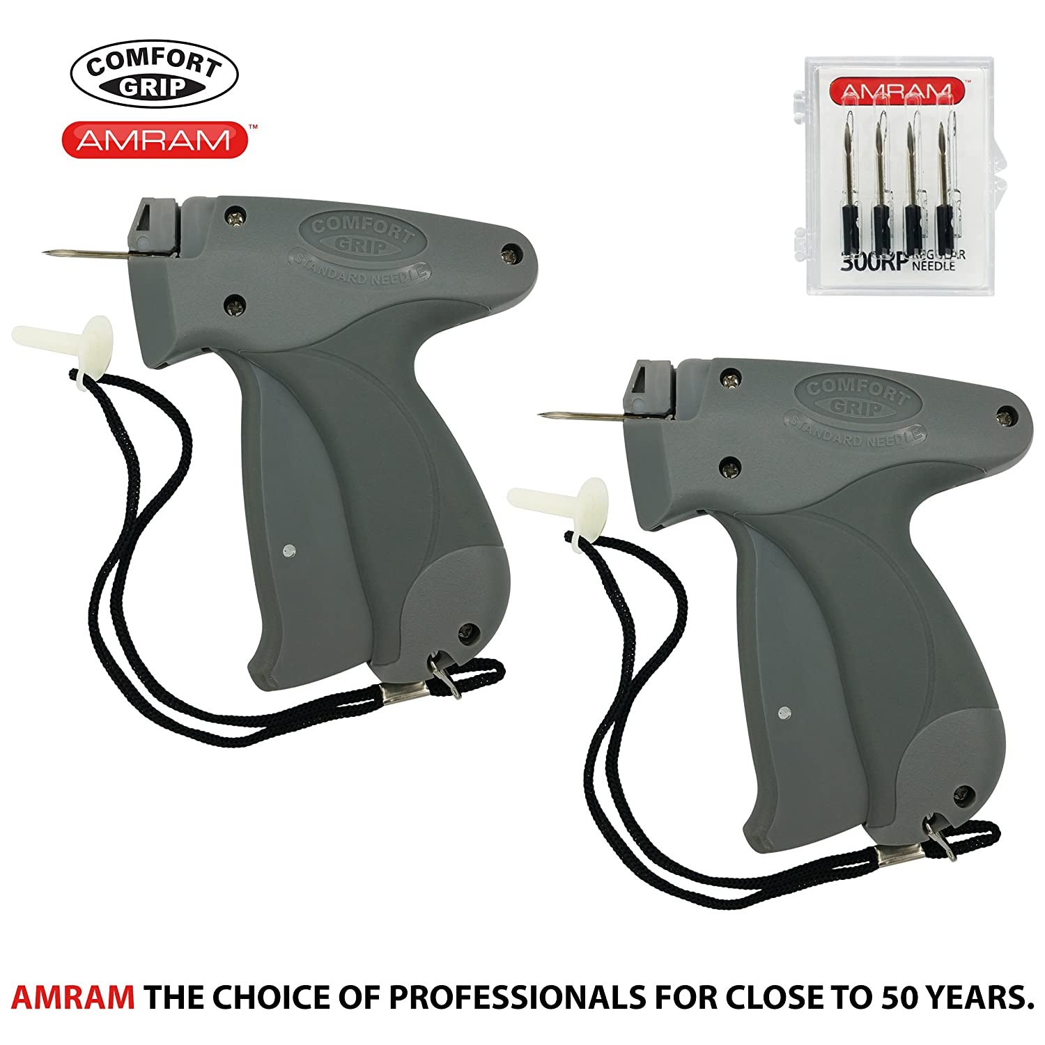 Amram Comfort Grip Standard 2 Pack Tagging Gun Kit Includes 6 Needles.