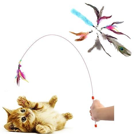 Dia Well Gato Angel con Campana Angel Parte Angel para Gatos Gato Juguete Gato Juguete