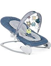 Chicco Hoopla - Hamaca con arco de juegos y reductor, de 0 a 18 kg, color azul (Spectrum) - Hamaca con barra de juegos,ColorSpectrum