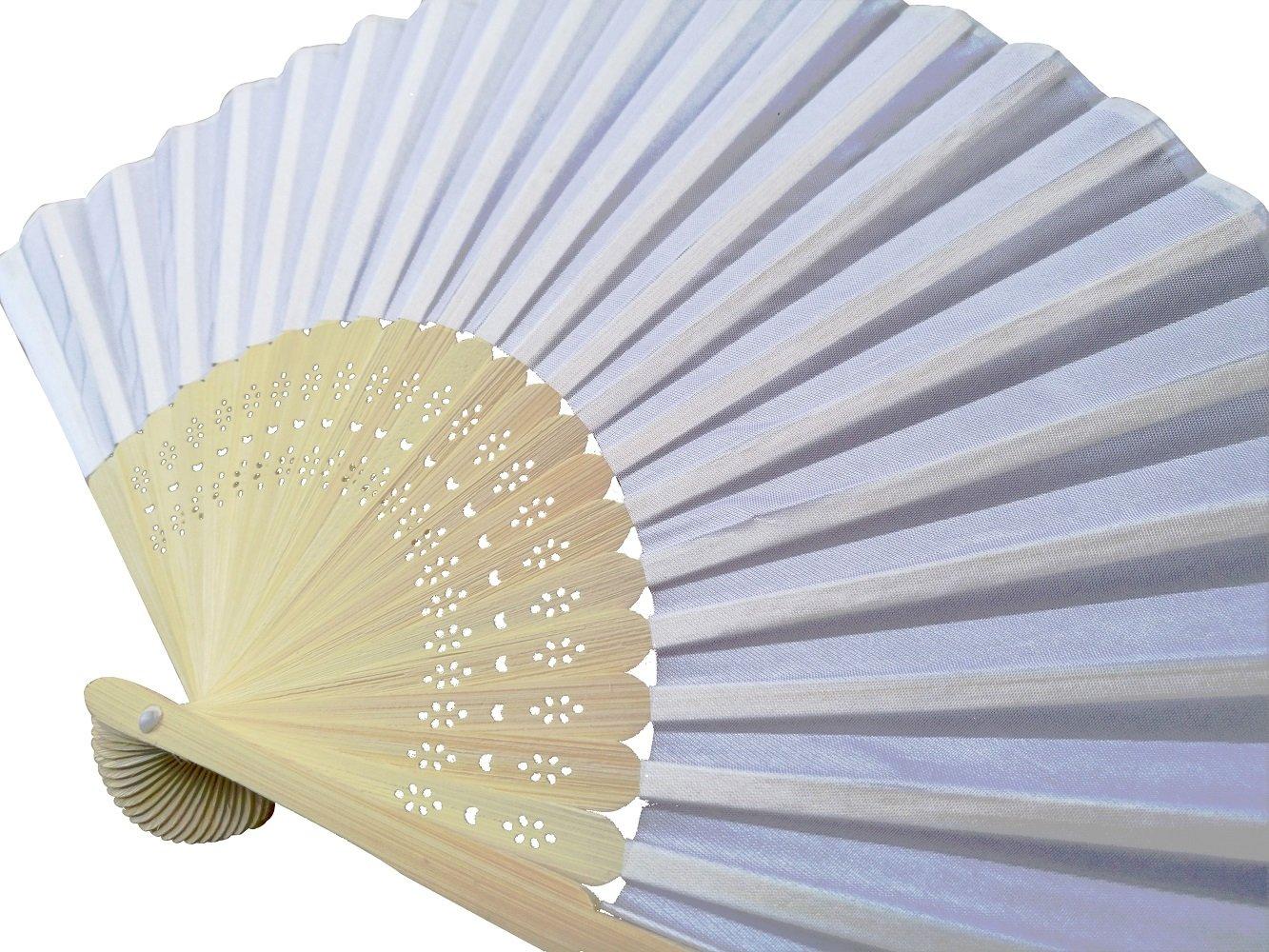 Amazon.com: IGBBLOVE Silk Folding Fan Wedding Party Favor fan- 10 ...