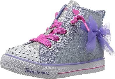 Skechers Unisex-Child Shuffle Lite-Harmony Hearts Sneaker