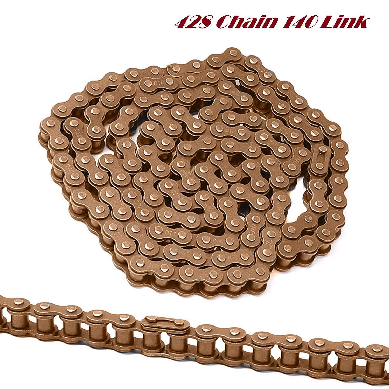 PROCOMPANY New 428 Chain 140 Link 50cc 70cc 110cc 125cc 140cc 150cc Mini Pit Dirt Bikes