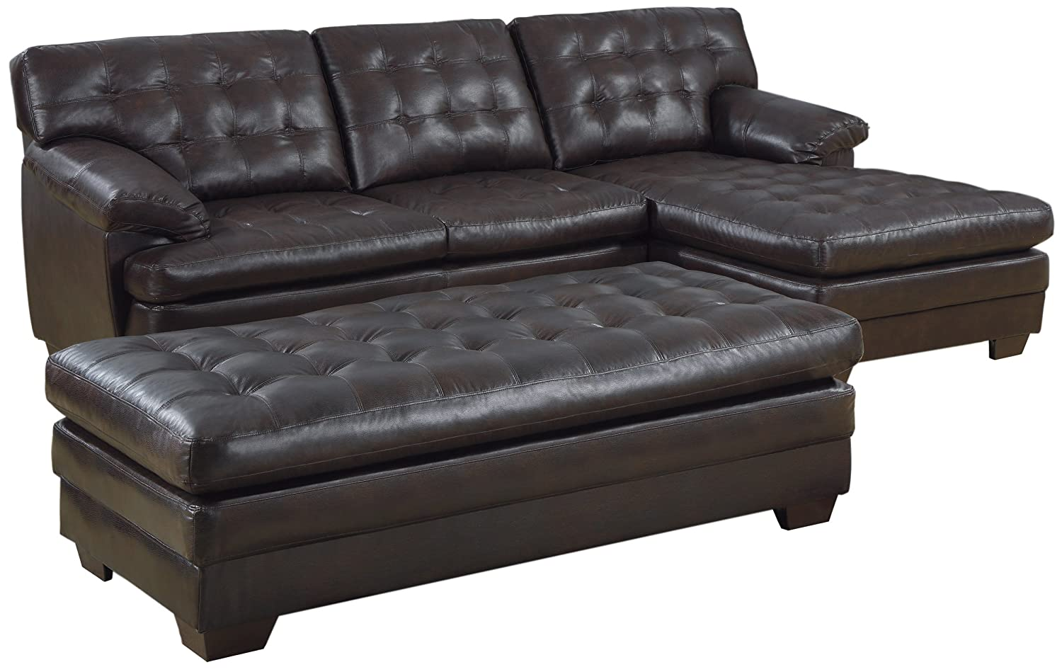 Homelegance 9739 Channel-Tufted 2-Piece Sectional