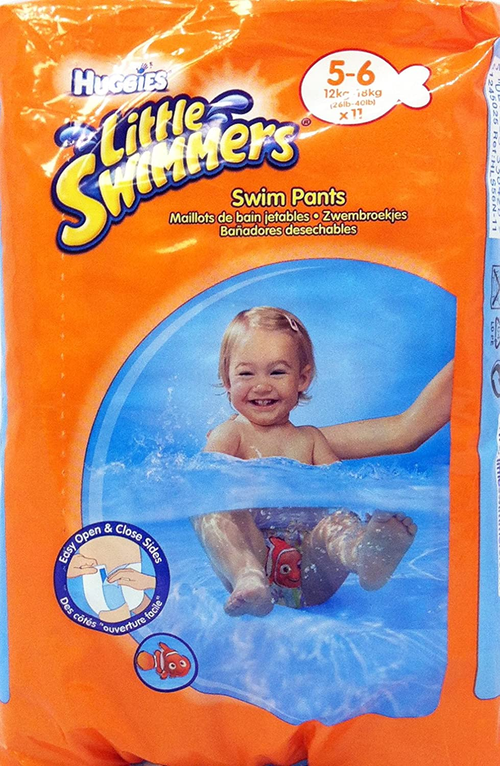 Huggies Swim Nappies Babies Little Swimmers Large 12 - 18 kg 11 Pieces 81024