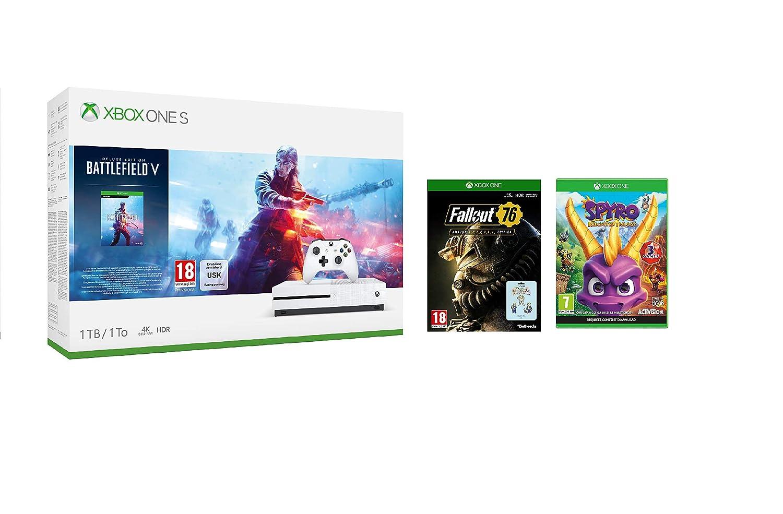 Xbox One S 1TB Battlefield V console + Spyro Trilogy