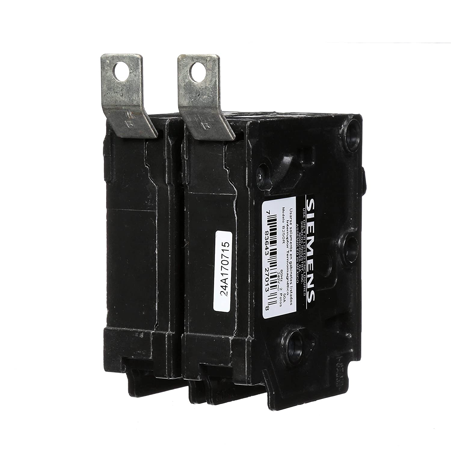 Siemens B250R 50-Amp Double Pole 240-Volt 10KAIC Bolt in Breaker Siemens HI