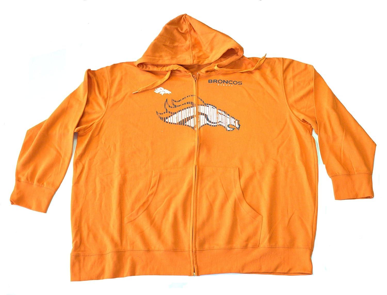 NFL Licensed Denver Broncosライト重量フルジッパーフード付きジャケット 3X  B014TY2UP0