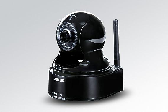 Astak Pan/Tilt WIFI cámara de vigilancia inalámbrica IP con audio, visión nocturna y acceso remoto: Amazon.es: Electrónica