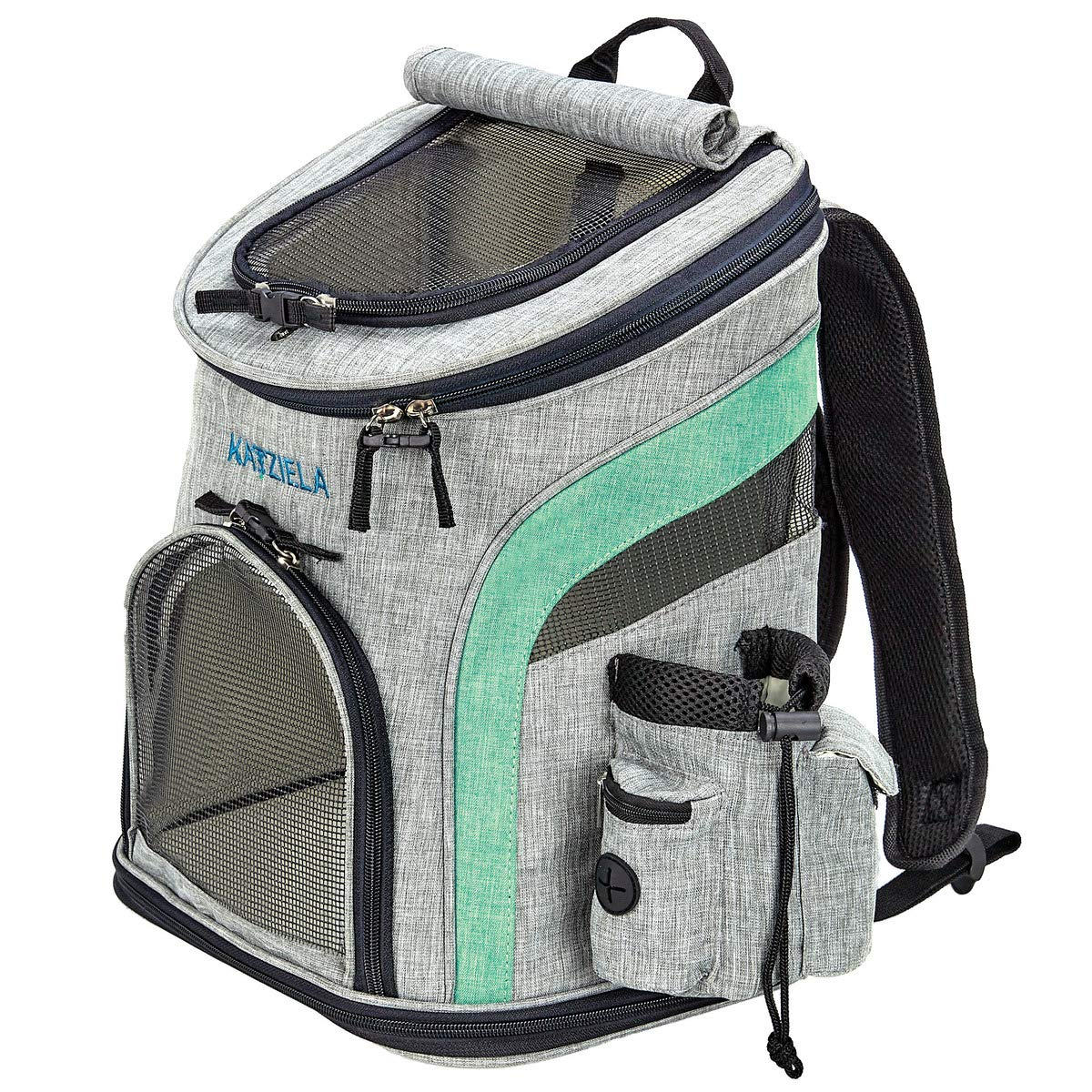 02e4f6901f39 Katziela Pet Carrier - Soft Sided, Airline Approved Carrying Bag for Small  Dogs and Cats, Front, Side and Top Mesh Ventilation Windows, Storage Pocket  ...