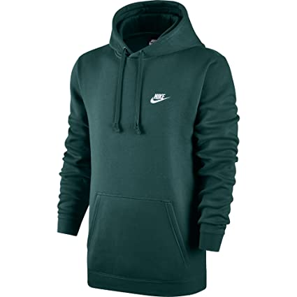 ce9762cc NIKE Mens Sportswear Pull Over Club Hooded Sweatshirt Dark Atomic Teal/White  804346-375