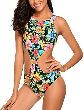 5aa7689bc65 Amazon.com: Avidlove Women One Piece Swimsuit, Sexy Halter Bikini Set  Swimwear Bathing Suit: Clothing