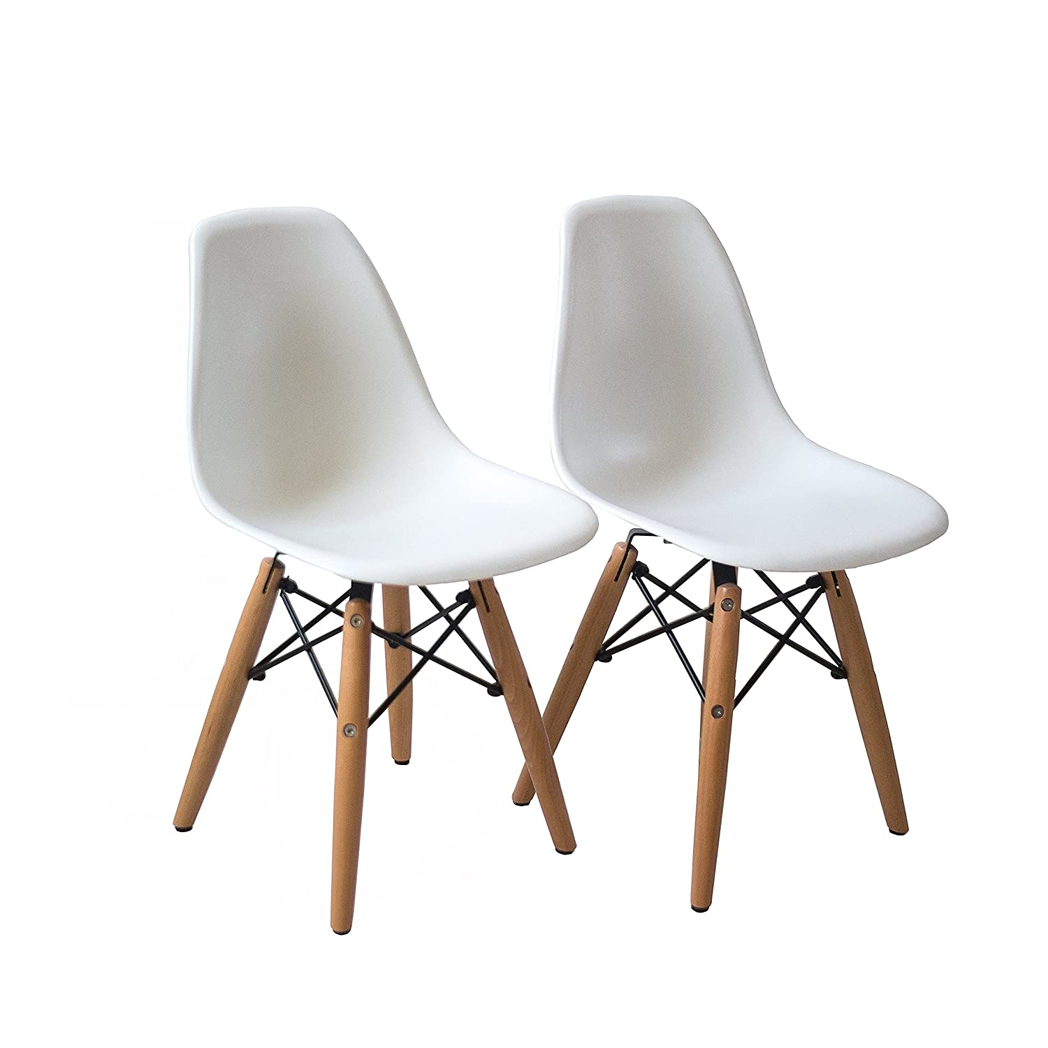 amazoncom buschman set of table and  white kids eames style  - amazoncom buschman set of table and  white kids eames style retro moderndining room mid century shell chair metal natural wood dowel leg baseplastic