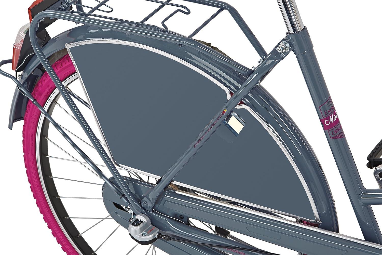 eleganz grau NOBLESSE Prophete Nostalgie 26 45 cm RH SHIMANO 3-Gang Nabenschaltung mit Drehgriffschalter vorne Alu-V-Bremse hinten R/ücktrittbremse 2-Rohr-Nostalgie-Rahmen