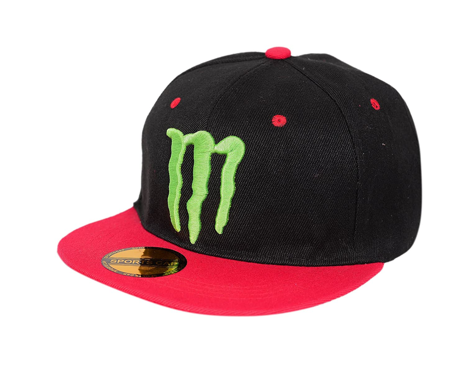 126829f77ff19 Krystle Unisex Cotton Black Red Monster Hip Hop Snapback Cap  Amazon.in  Clothing    Accessories