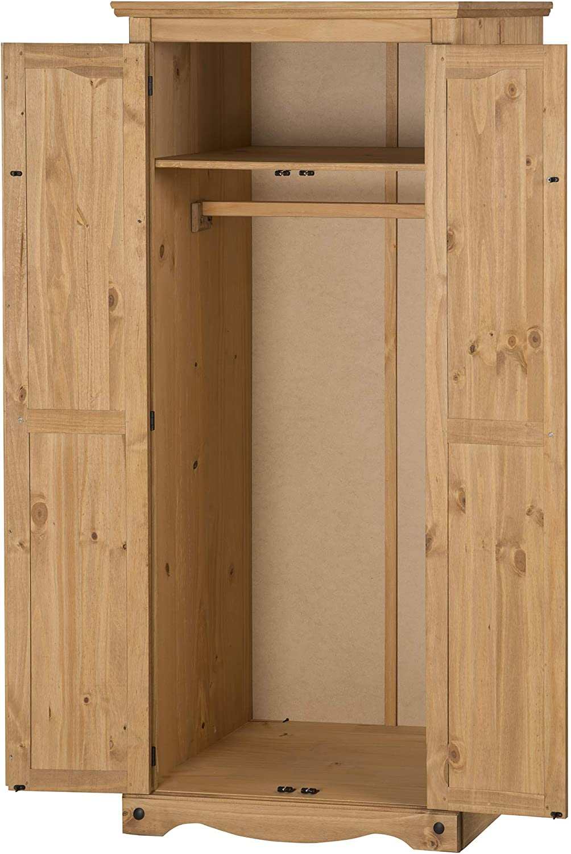 Corona Furniture Corona 2 Door Flat Top Wardrobe