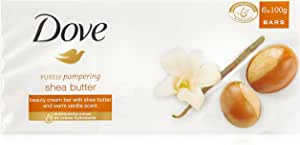 Dove Beauty Soap Bar Shea Butter, 6 x 100g