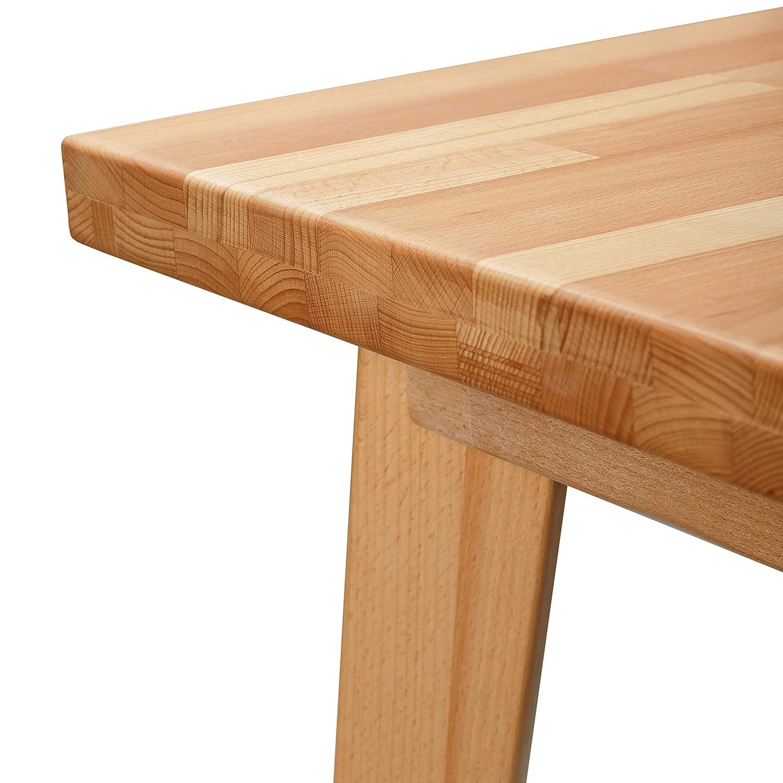 Arredamento Tavolo Da Pranzo In Legno Di Faggio 100 Fsc Hans 75 X 50 X 75 Cm Casa E Cucina Aikidojo Fr