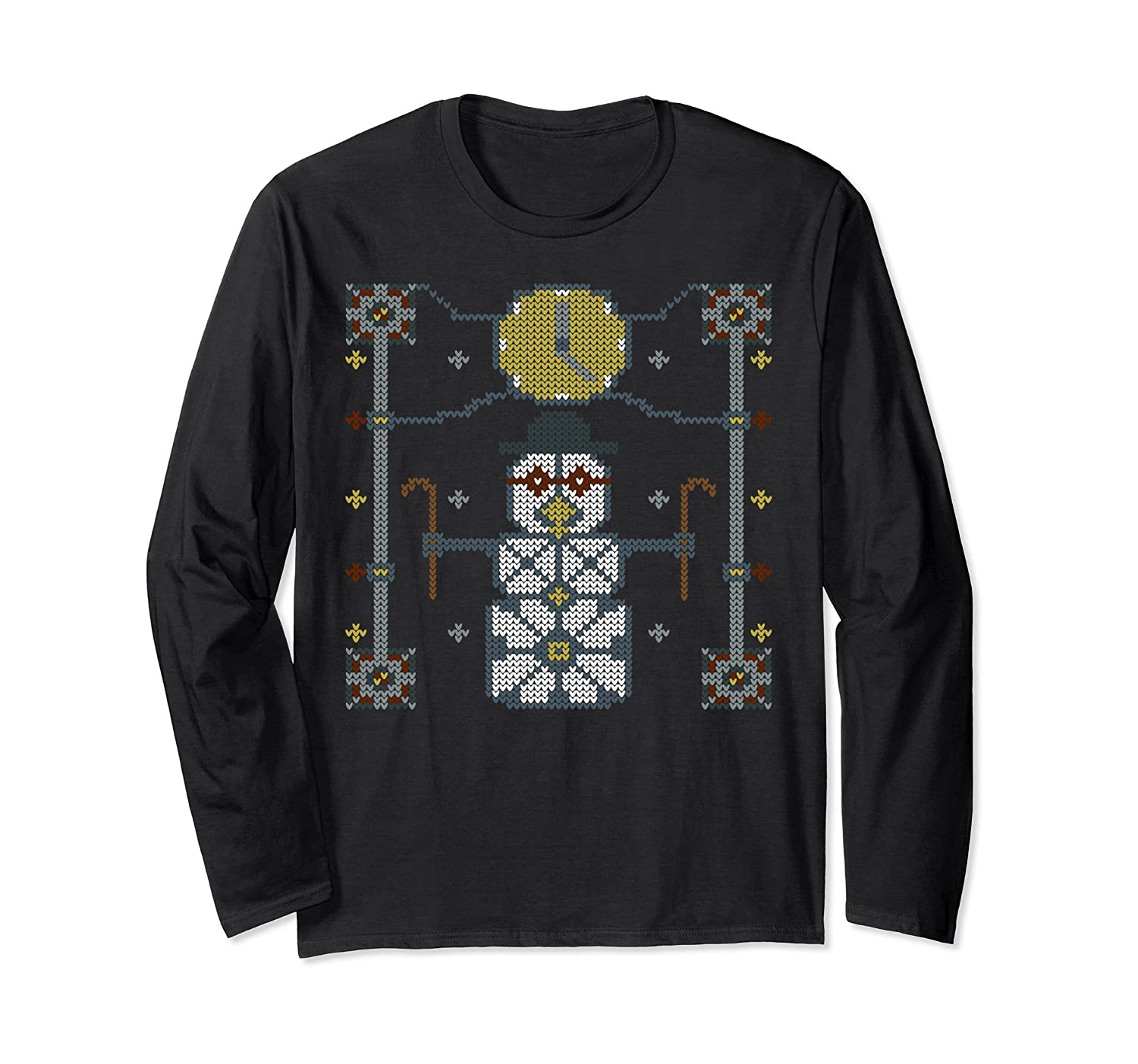 Steampunk Time Machine Snowman Ugly Christmas Sweater TShirt