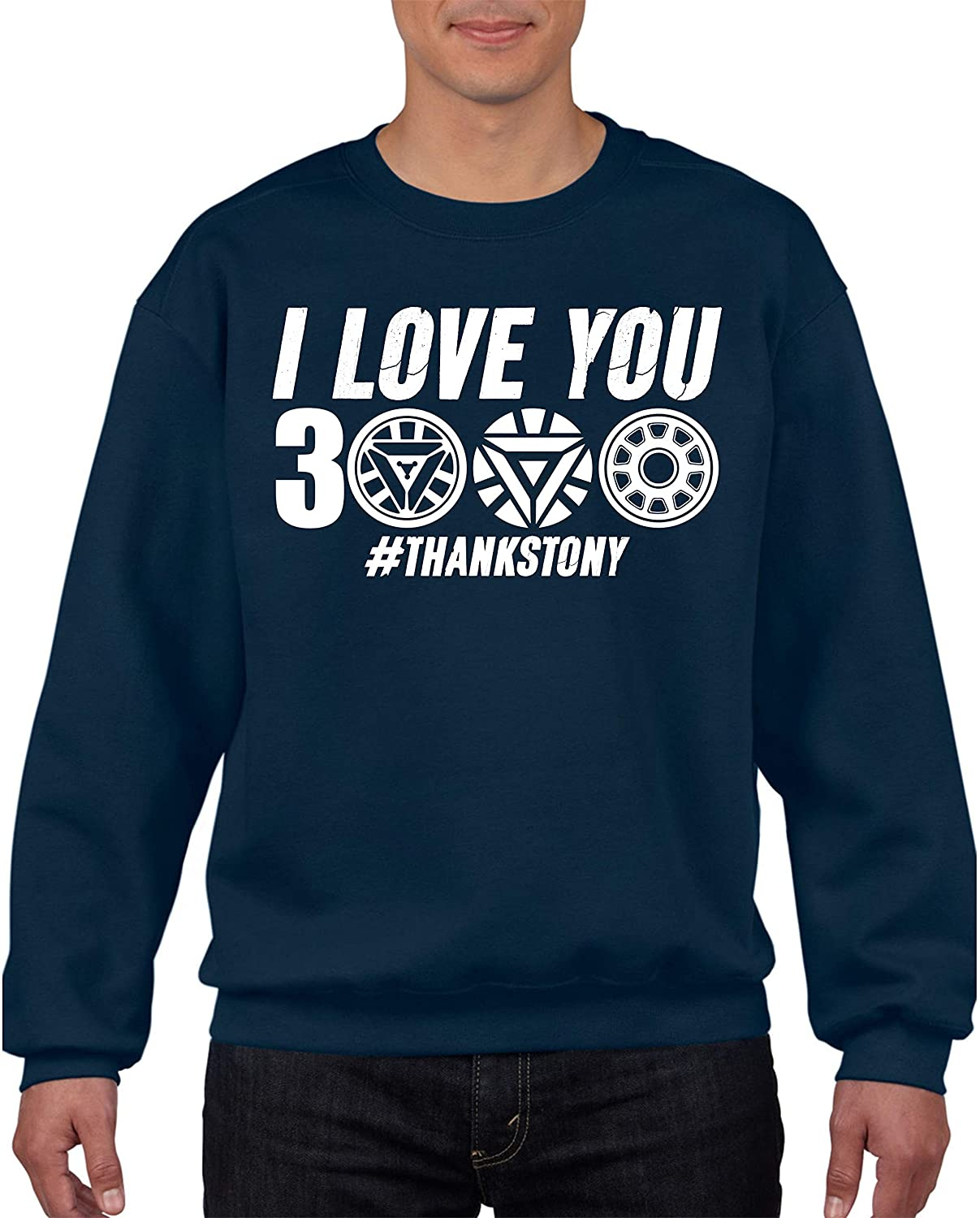3 Thousand Thanks Tony Marvel Comics Superheroes Fans Gift Kids /& Adults Size Jumper Top Avengers Endgame Jumper Iron Man I Love You 3000