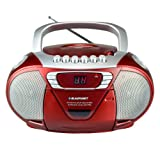 BLAUPUNKT B 11 RD tragbares CD-Radio mit Kassettenplayer (LED-Display, Backlight, 2x 1 Watt, UKW/MW-Tuner) rot
