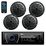 Amazon Price History for:Bluetooth Marine Receiver Stereo & Speaker Kit, Hands-Free Calling, Wireless Streaming, MP3/USB/SD Readers, AM/FM Radio, (4) 6.5? Waterproof Speakers (Black)
