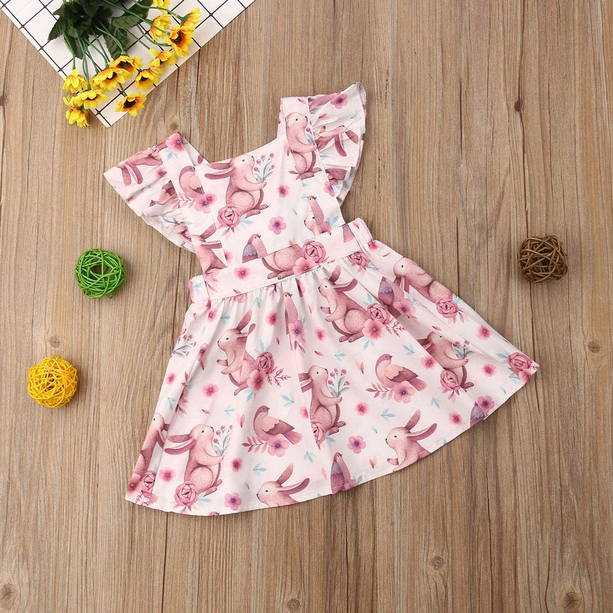 Toddler Baby Girls Princess Dress,Kids Ruffle Sleeveless Bowknot Tutu Skirt Dress Summer Outfit Clothes