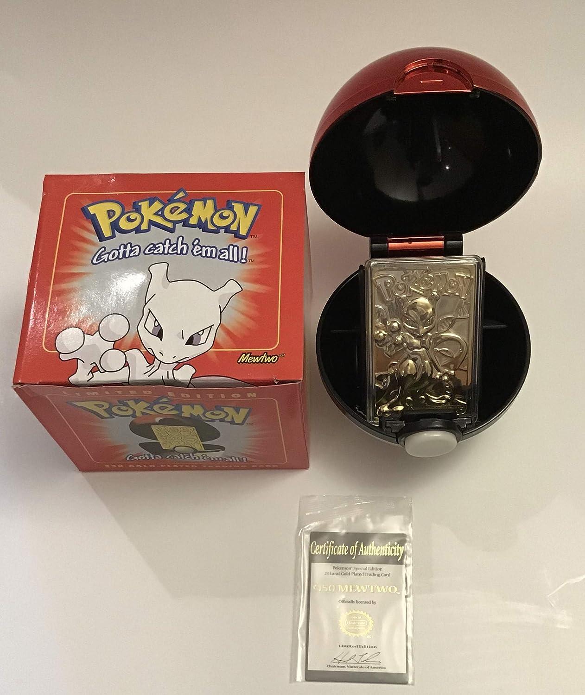 Charizard Pokemon 23k gold plated trading card
