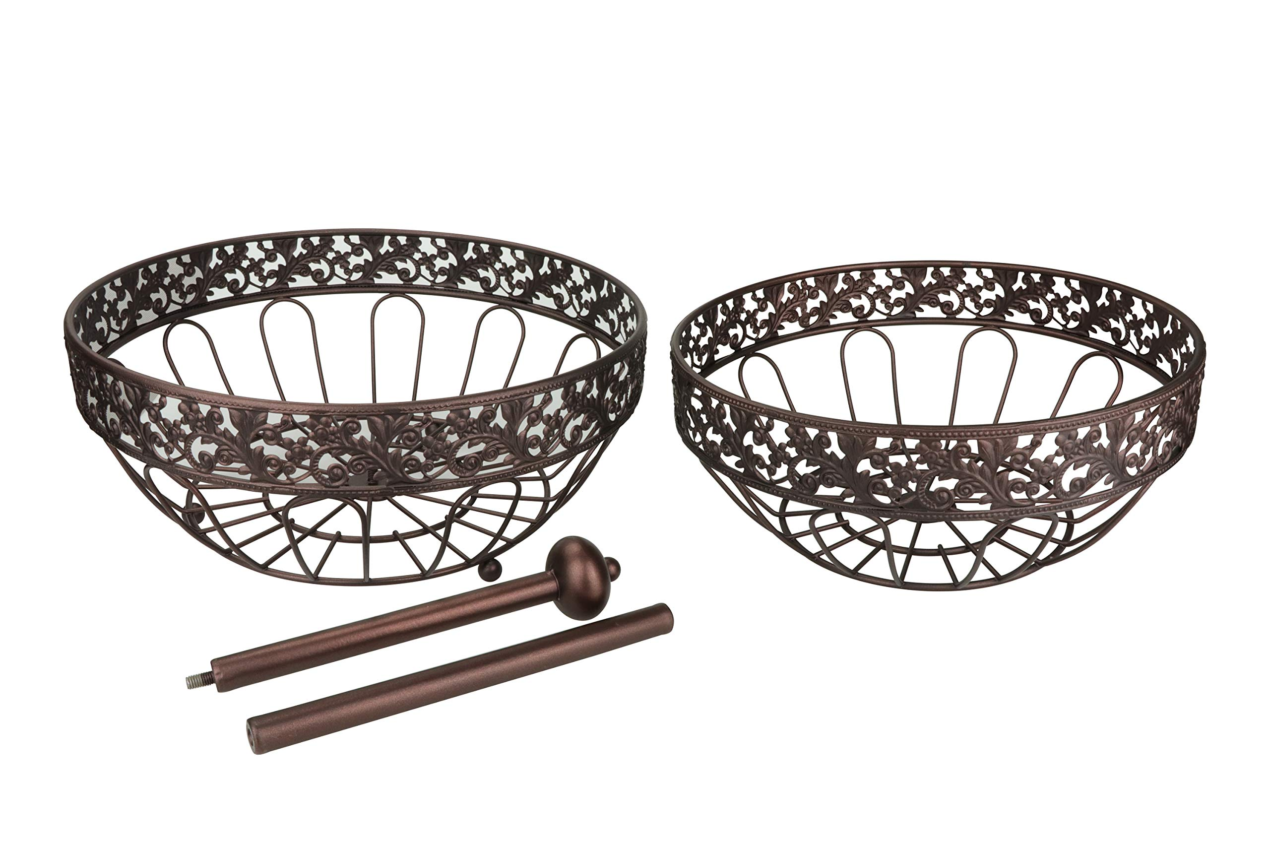 RosyLine 2-Tier Fruit Basket home Fruit Basket Decorative Display Stand, Multi purpose bowl, Home accent furnishings by DongJiang (Image #5)